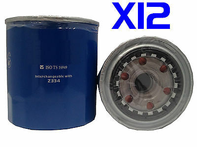 AU1079.95 • Buy 12 X Oil Filter Fits Z334 Dyna 2003-on 4.0L BU300 BU340 115BFT Turbo Diesel