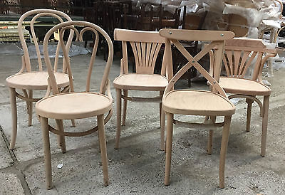 French Bentwood Cafe Chair Restaurant Dining Antique Side Kitchen Bistro Cross  • 125£