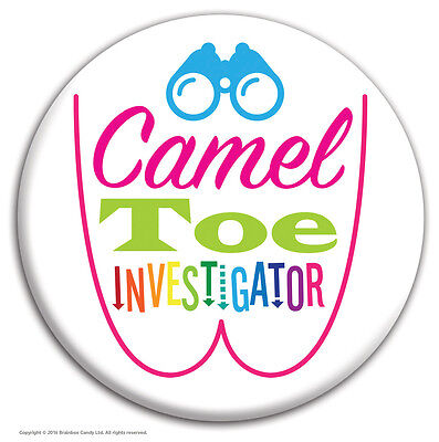 Brainbox Candy 'Camel Toe' Badge Rude Funny Novelty Cheap Gift Hen Stag Do • 1.59£