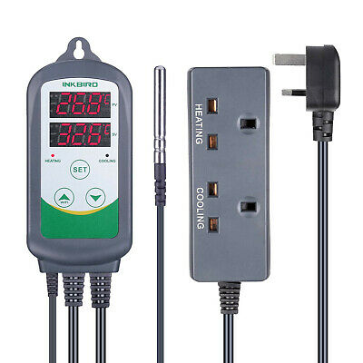Inkbird 308 Digital Temperature Controller 220V Heat Thermostat Smart 2200W 10A • 29.99£