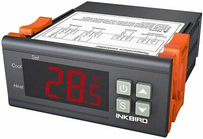 Inkbird Digital Temperature Controller 2 Relay Output Room Thermostat 220V Heat  • 13.99£