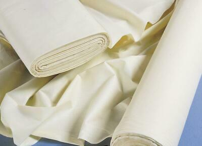 £2.99 • Buy Premium Polycotton Curtain Lining Fabric 54  Inch Ivory Per 1m Metre Clearance