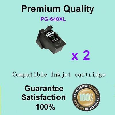 AU48.90 • Buy 2 X Canon Generic PG-640XL BLACK 640 XL Ink Cartridge Pixma MG2160 MG2260