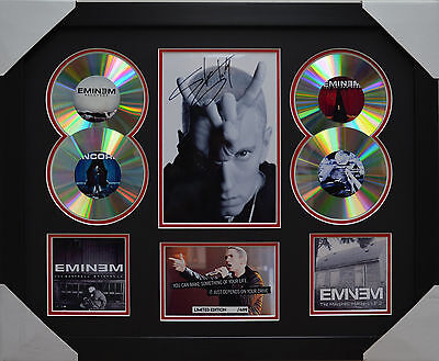 AU93.50 • Buy Eminem  Memorabilia 4cd Framed Signed Limited Edition