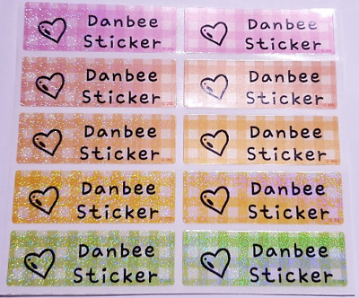 AU3.99 • Buy Large Checked 9Colors Diamond Personalised Name Labels,47x15mm,Waterproof