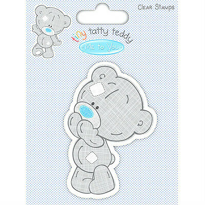 Me To You TINY TATTY TEDDY Boy Character Clear Stamp Surprised Bear Scrapbooking • 4.99£