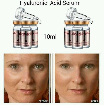 100% Natural Pure Firming Collagen Strong Anti Wrinkle HYALURONIC ACID Serum UK • 5.49£