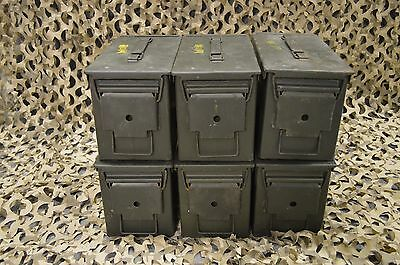 $89.95 • Buy 6 PACK 50 Cal M2A1 AMMO CAN COMPLETELY REFURBISHED GREAT CONDITION FREE SHIPPING
