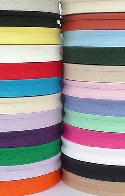 Cotton Bias Binding Tape 16mm / 5/8 Inch - 10m Lengths - Assorted Colours • 2.49£
