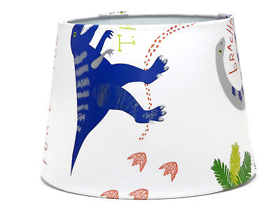 Dinosaur Lampshade Light Shade Bedroom Nursery Accessories Dino Doodles Gifts • 26.99£