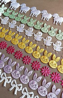 Kids Trims Ribbon Cardmaking Decor Bunny Chick Sheep Baby Easter Motif Rustic • 1.89£