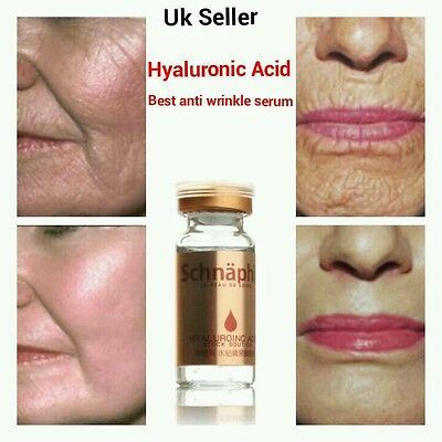 Hyaluronic Acid, Strong Anti Wrinkle Serum 100% Natural Pure Firming Collagen UK • 5.99£