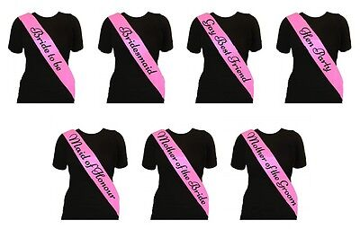 Pink With Black Text - Hen Party Sashes Hen Night Party Do Sash Accessories • 0.99£
