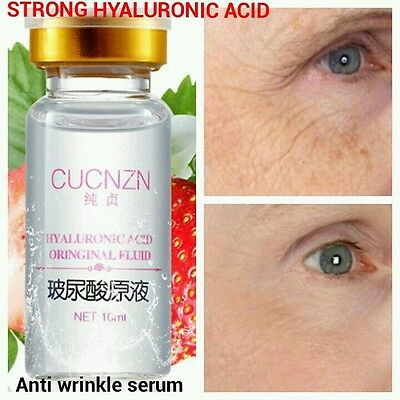 HYALURONIC ACID 100% Natural Pure Firming Collagen Strong Anti Wrinkle Serum UK • 5.99£