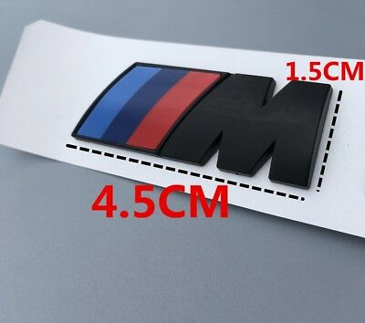 AU12.50 • Buy M-Sport Front Wing Badge Self-adhesive Boot/Trunk Logo Emblem For BMW BK Small