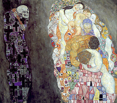 $ CDN108.22 • Buy Death And Life 22x30 Hand Numbered Edition Art Deco Print By Gustav Klimt