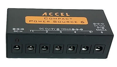 $ CDN79.10 • Buy Accel Compact Power Source 6 Power Supply For Guitar Effect Pedals