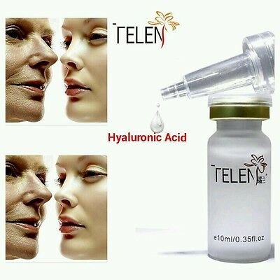 Telen 100% Pure Strong Hyaluronic Acid Anti Age Wrinkle Collagen Serum Hydrating • 4.99£