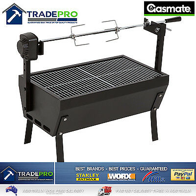 AU159 • Buy Spit Roaster Rotisserie BBQ LARGE With Charcoal Grill Quality Heavy Duty 650mm
