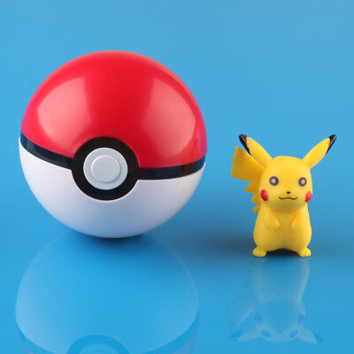 Pokemon Pokeball Pop-up 7cm Plastic BALL Toy Action Figure With Pikachu • 4.44£