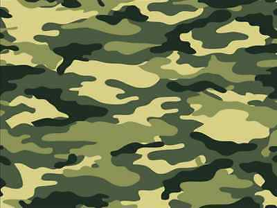 £1.79 • Buy Camouflage Army Print Military Cake Topper Edible Wafer Paper A4 Cake Decoration