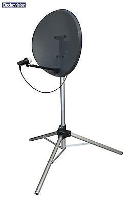 Satellite TV Dish Tripod Mount Stand Camping Caravan Touring Sky Freeview + Pegs • 19.99£