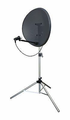 Large Satellite TV Dish Tripod Mount Stand Camping Caravan Sky Freeview + Pegs • 24.99£