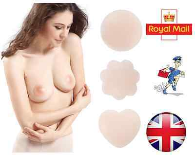 £1.99 • Buy 2 Invisible Silicone Nipple Cover Self Adhesive Breast Bra Pad Patch Concealer