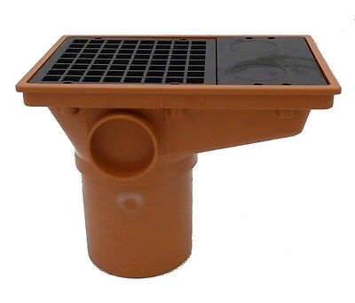 £10.99 • Buy Underground Drainage 110mm Rectangular Hopper And Grid   Pipe Fittings