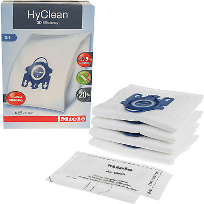 4 Miele GN Hyclean 3D Efficiency Vacuum Hoover Cleaner Dust Bags & 2 Filters • 11.65£