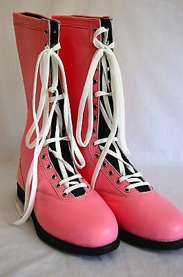 $149.99 • Buy PINK Pro Wrestling Boots Size 13 Adult NEW Lucha Libre Gear Wwe Outfit