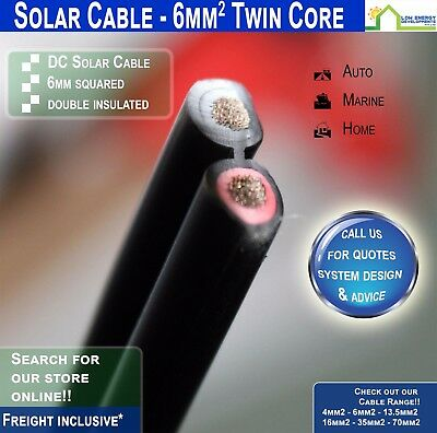 AU7.95 • Buy 6mm2 TWIN CORE Solar Cable
