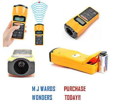 PRO Ultrasonic Distance Meter/Distance Measure+Laser Pointer Tape Measure • 15.99£