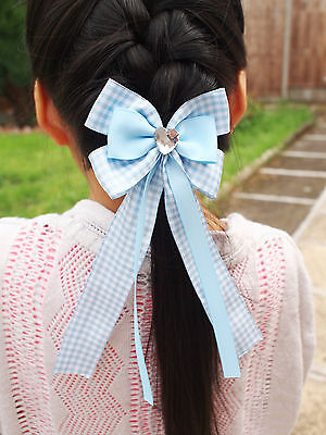 $ CDN6.16 • Buy BACK TO SCHOOL Girl Kids Children Hair Accessories Ribbon Bow With Tails Bobble