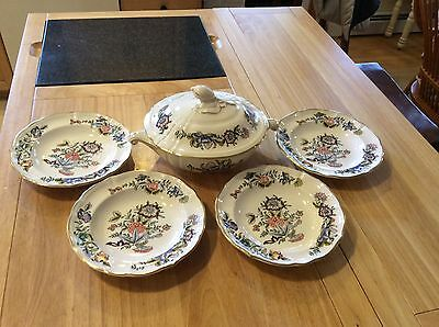 $ CDN79.33 • Buy Diamondstone Laveno Italy Baronessa Covered Casserole W/ Four 8  Matching Bowls