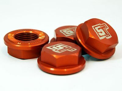 £32.99 • Buy UberRC Enclosed Wheel Nuts 5ive-T - X4 Orange For Losi 5ive-T X2 RC 1/5th Scale