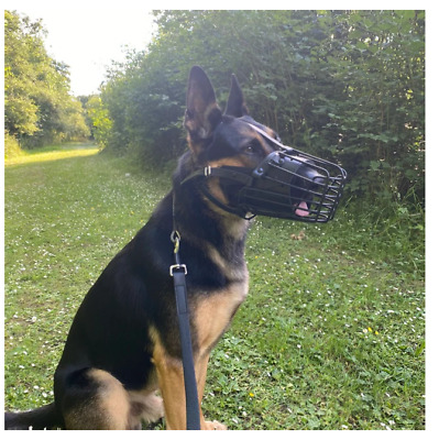 £24.99 • Buy New Strong Metal  Wire Rubber Covered Basket Dog Muzzle German Shepherd