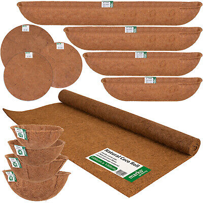 £6.99 • Buy Coco Liners Hanging Baskets Trough Planters Coco Matting Roll Plating Flowers