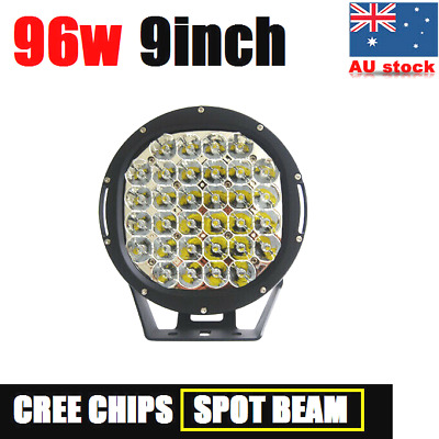 AU69.99 • Buy 96W 9INCH CREE LED DRIVING LIGHT OFFROAD ROUND SPOTLIGHT WORK CAR AUTO 4x4 LAMP