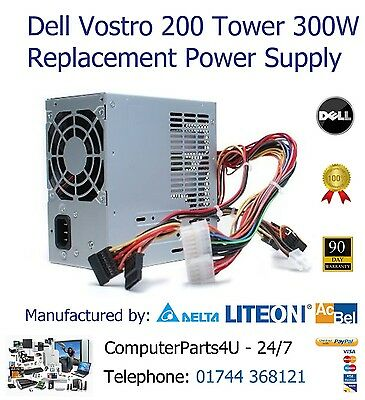 £22.99 • Buy Dell Vostro 200 Tower 300W Replacement ATX Power Supply Unit - 3 Months Warranty