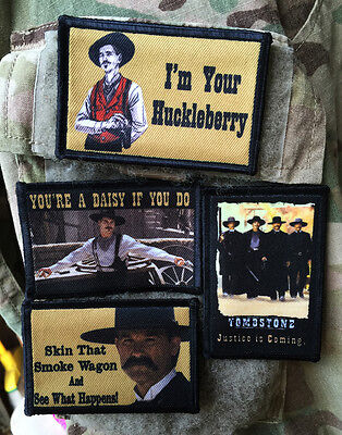 $24.99 • Buy Tombstone Movie LOT Of 4 Morale Patch Tactical Military USA Hook Badge Army Flag