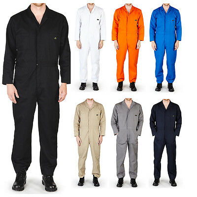$36.90 • Buy Mens Premium Long Sleeve Coverall Overall Boilersuit Mechanic Protective Work