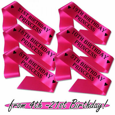 £3.95 • Buy Childs Adults Personalised Birthday Princess Any Age 4th - 21st Girl Party Today