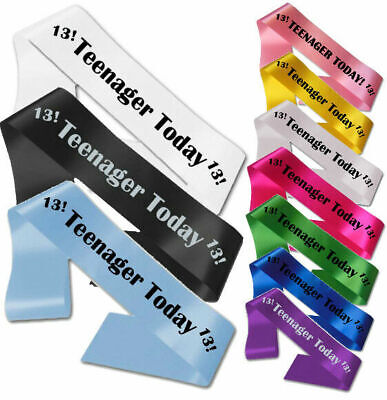 £3.95 • Buy 13th Birthday Teenager Today Sash Gift Party All Colours Girl Boy Banner 13 Fun