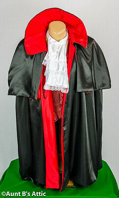 £43.86 • Buy Cape-19th Century Dickens Style Cape Vest Jabot Blk & Red Costume