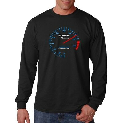 Yamaha R1 Inspired Sports Motorcycle Rev Counter Long Sleeve T-shirt FN9357 • 12.99£