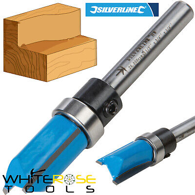 Silverline 1/4  Shank TCT Template Cutter Router Bit Twin Fluted Imperial Jig • 4.95£