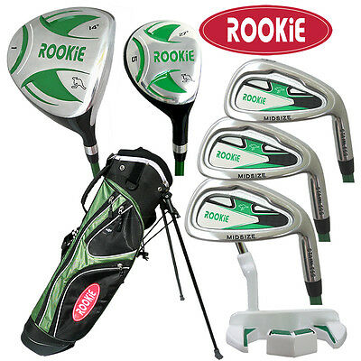 AU239 • Buy JUNIOR RH GOLF SET 7 PCE For KIDS 7 To 10yrs WITH HYBRID - GREEN KIDS GOLF CLUBS