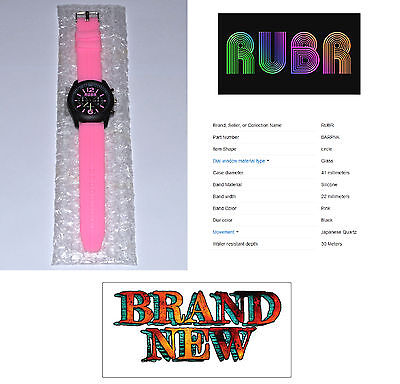 New Rubr Brand. Unisex Watch. Barcelona Pink. Brand New Battery. Usa Seller. • 33.39£