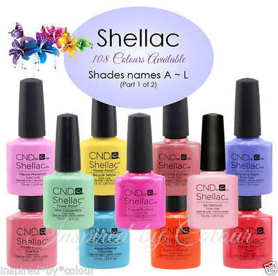 AU28.95 • Buy CND SHELLAC GEL UV COLOR~Full CND Range Available~Select Your Shade~Colours A~L